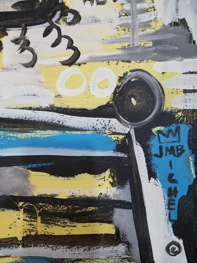In the manner of: Jean Michel Basquiat (1960-1988)- Oil - 2