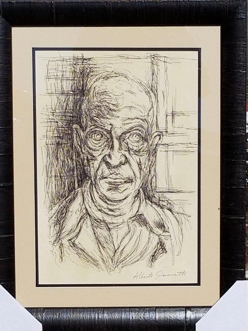 Alberto Giacometti (1901-1966) Ink on Paper- COA Attrib