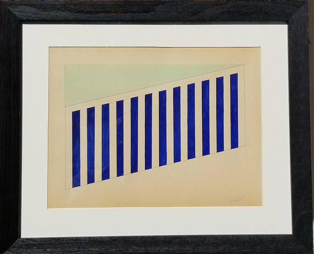 Donald Judd (1928-1994) (Pencil & Ink on Paper) an
