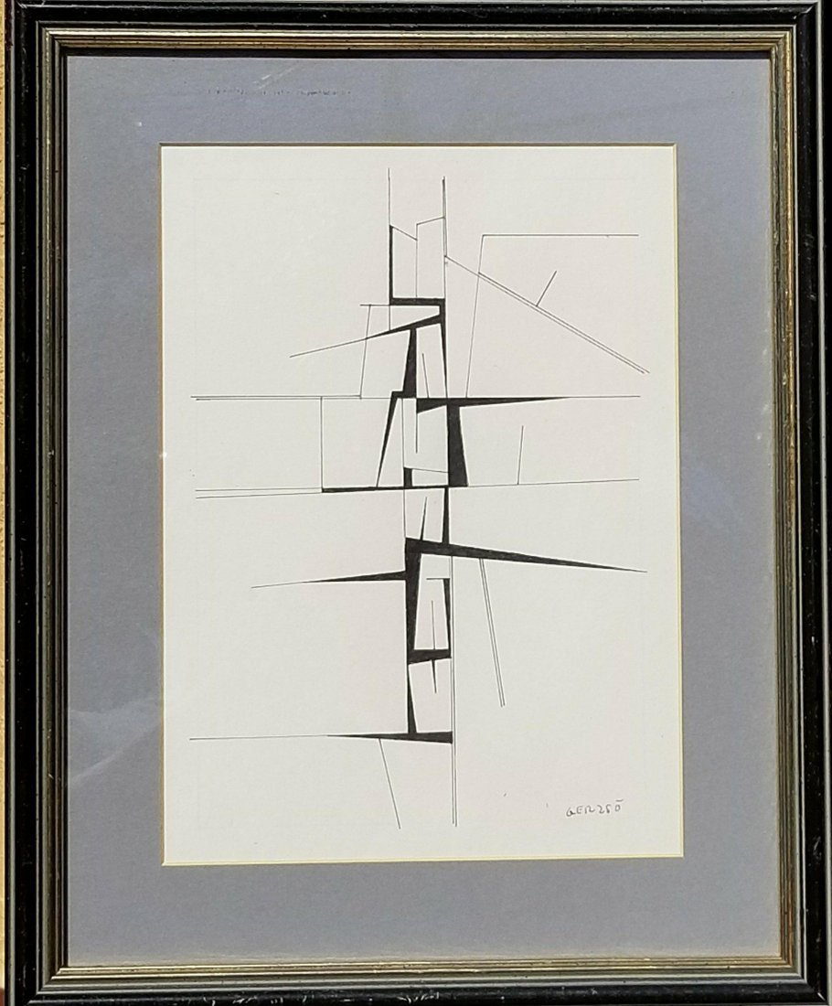 Gunther Gerzso (1915-2000) Ink on Paper- Gunther Gerzso