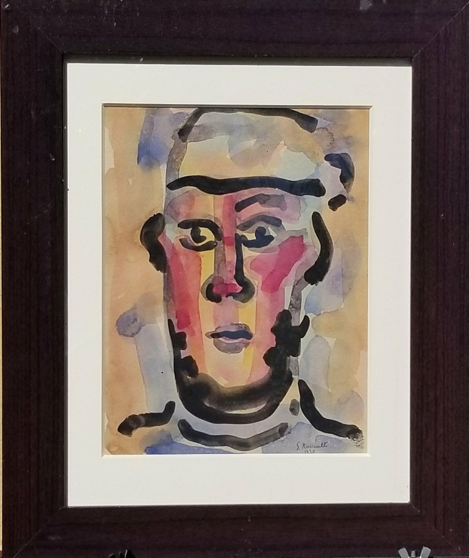 Georges Rouault (1871-1958) gouache on Paper 1930-