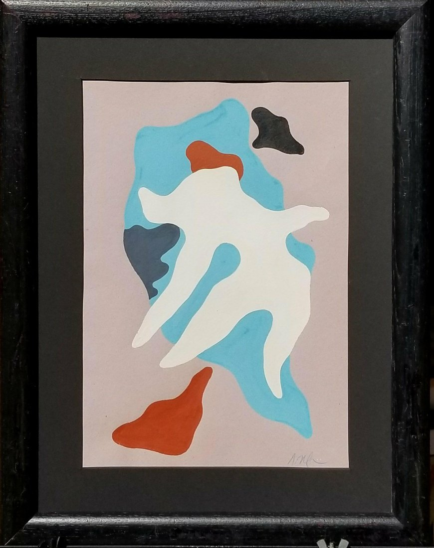Jean Arp (1886-1966) Gouache on Paper- Also known as
