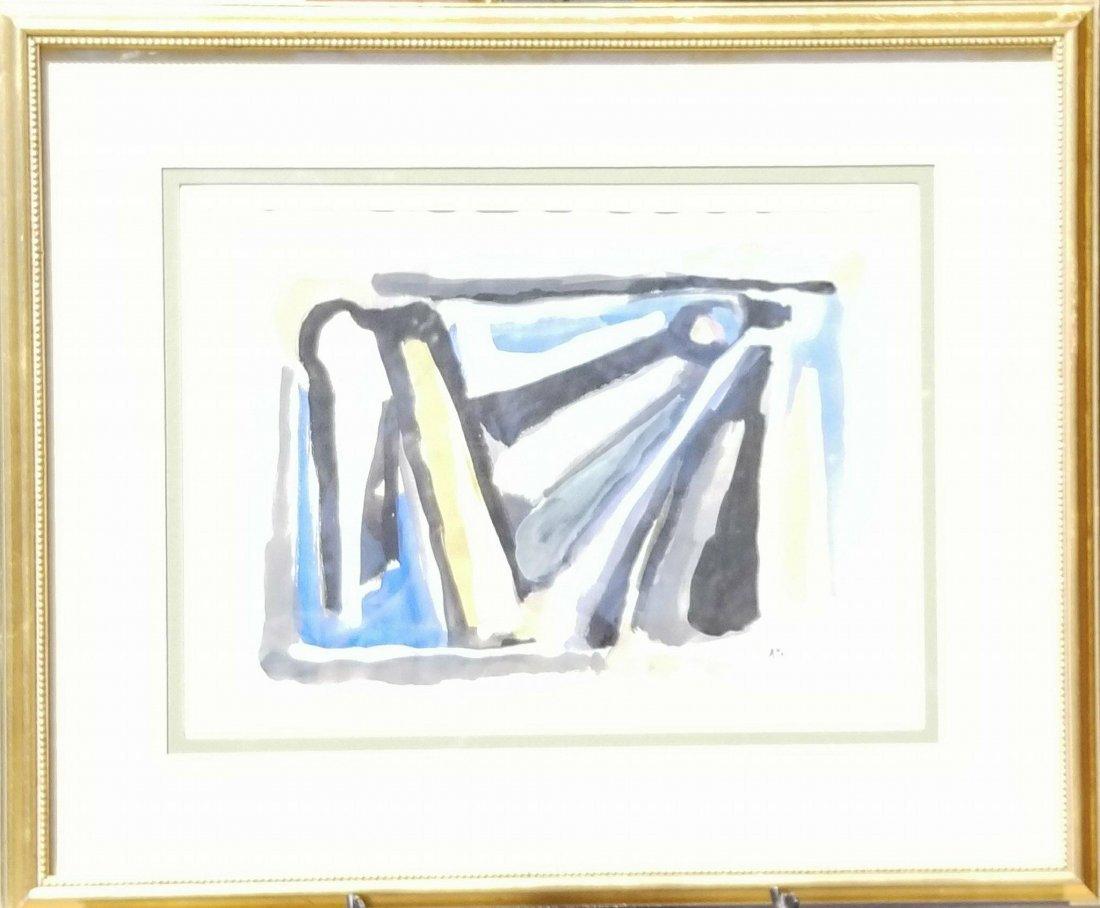 Bram Van Velde (1895-1981) Gouache on Paper- Bram van