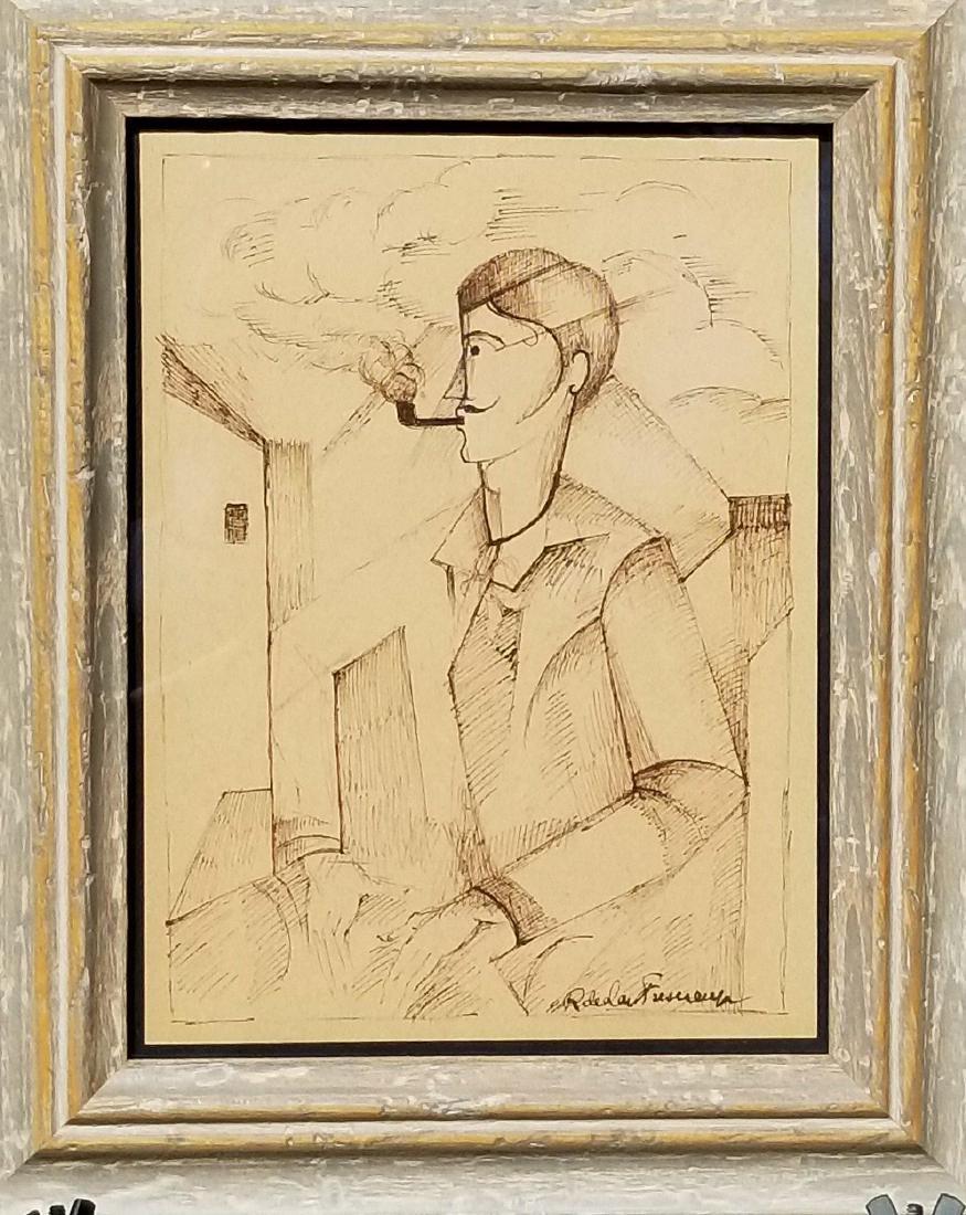 Roger De L a Fresnade ( 1885-1925) Ink on Paper- He was