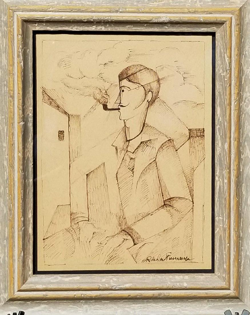 Roger De L a Fresnade ( 1885-1925) Ink on Paper- He was