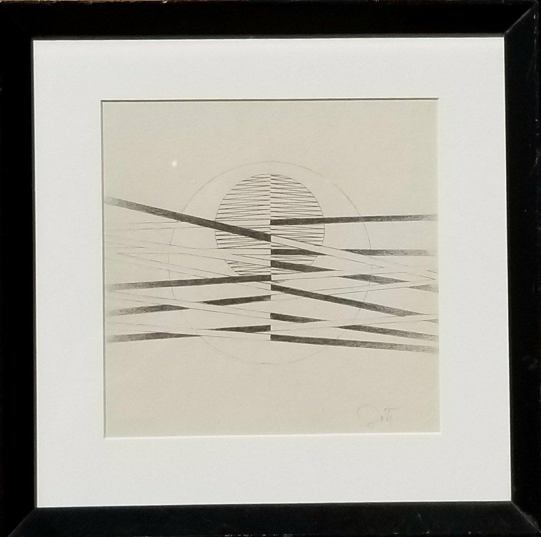 Jesus Rafael Soto (1923-2005) Pencil on Paper- Jesœs