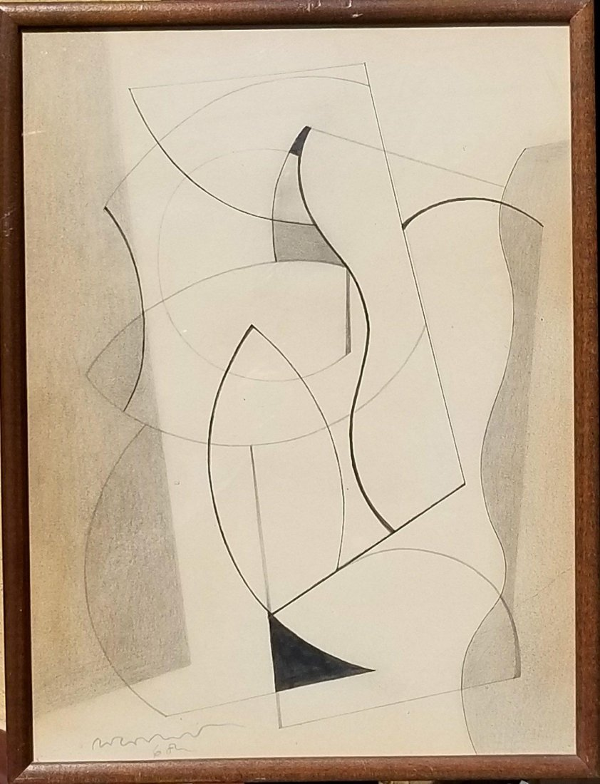 Ben Nicholson (1894-1982) Pencil on Paper 1968 -