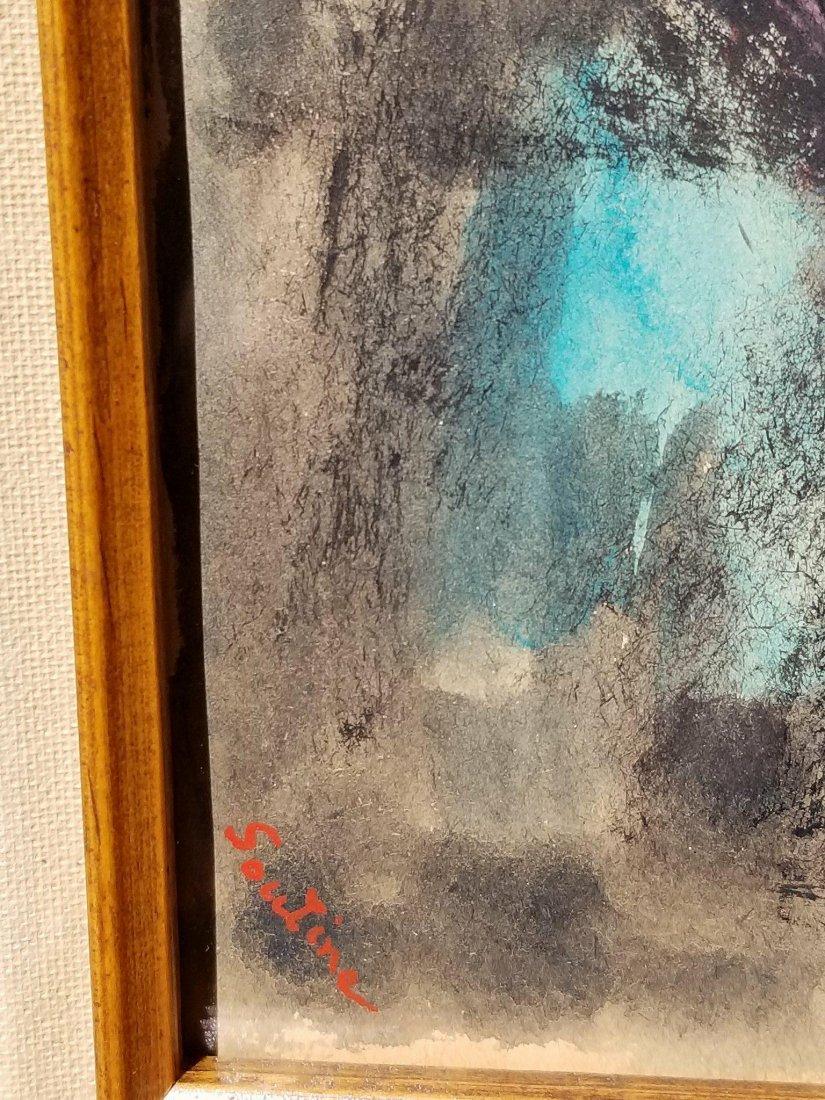 Chaim Soutine (1893-1943) Gouache on Paper- Cha•m - 2