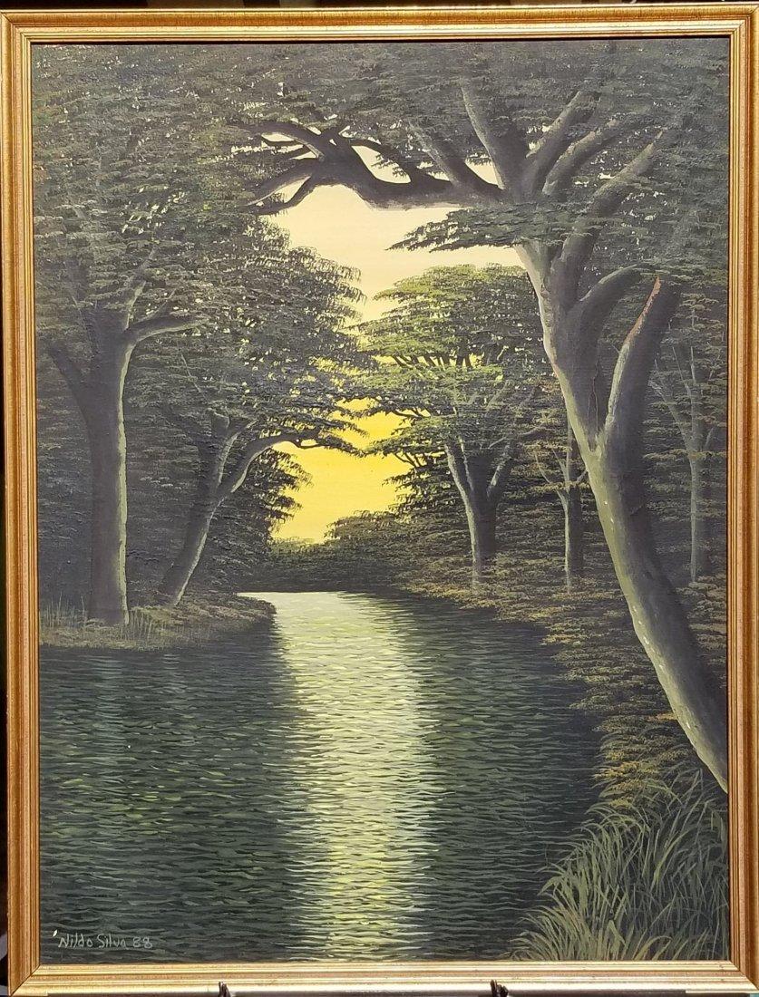 """Nildo Silva  88  oil on canvas size:32""""h x 25""""w shippin"""