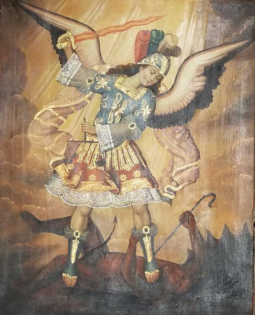 "Justo Gonzalez oil on canvas size:19.5""h x 15.5""w. ship"