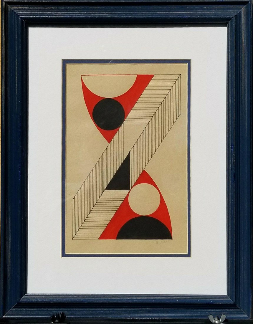 Kumi Sugai (1919-1996) Ink and Gouache on Paper- She