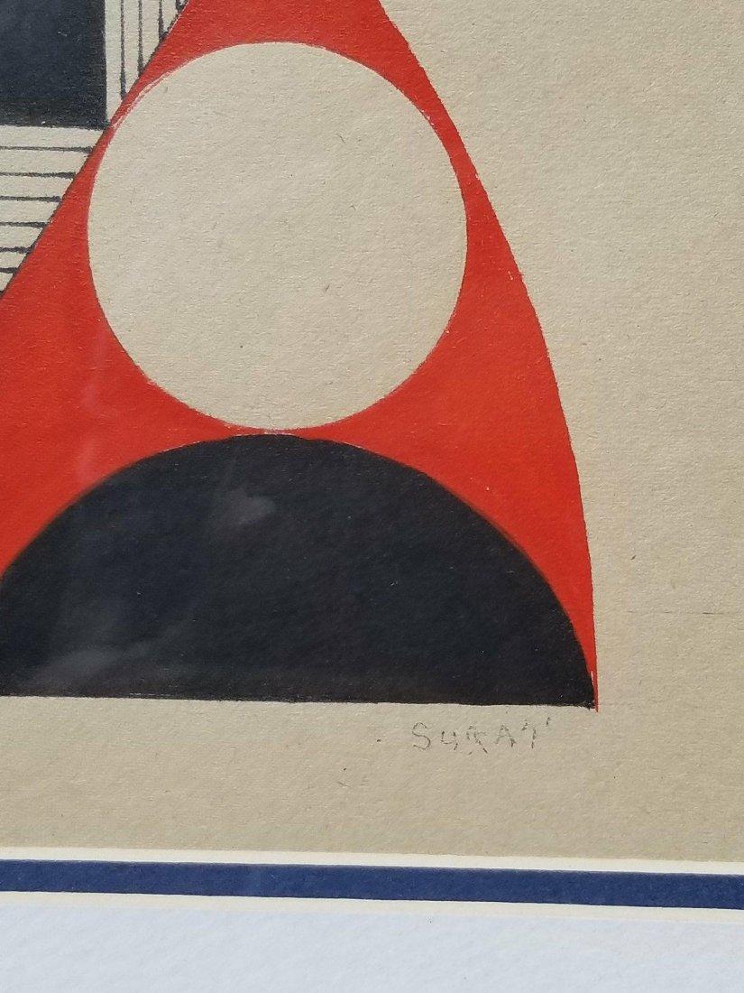 Kumi Sugai (1919-1996) Ink and Gouache on Paper- She - 2