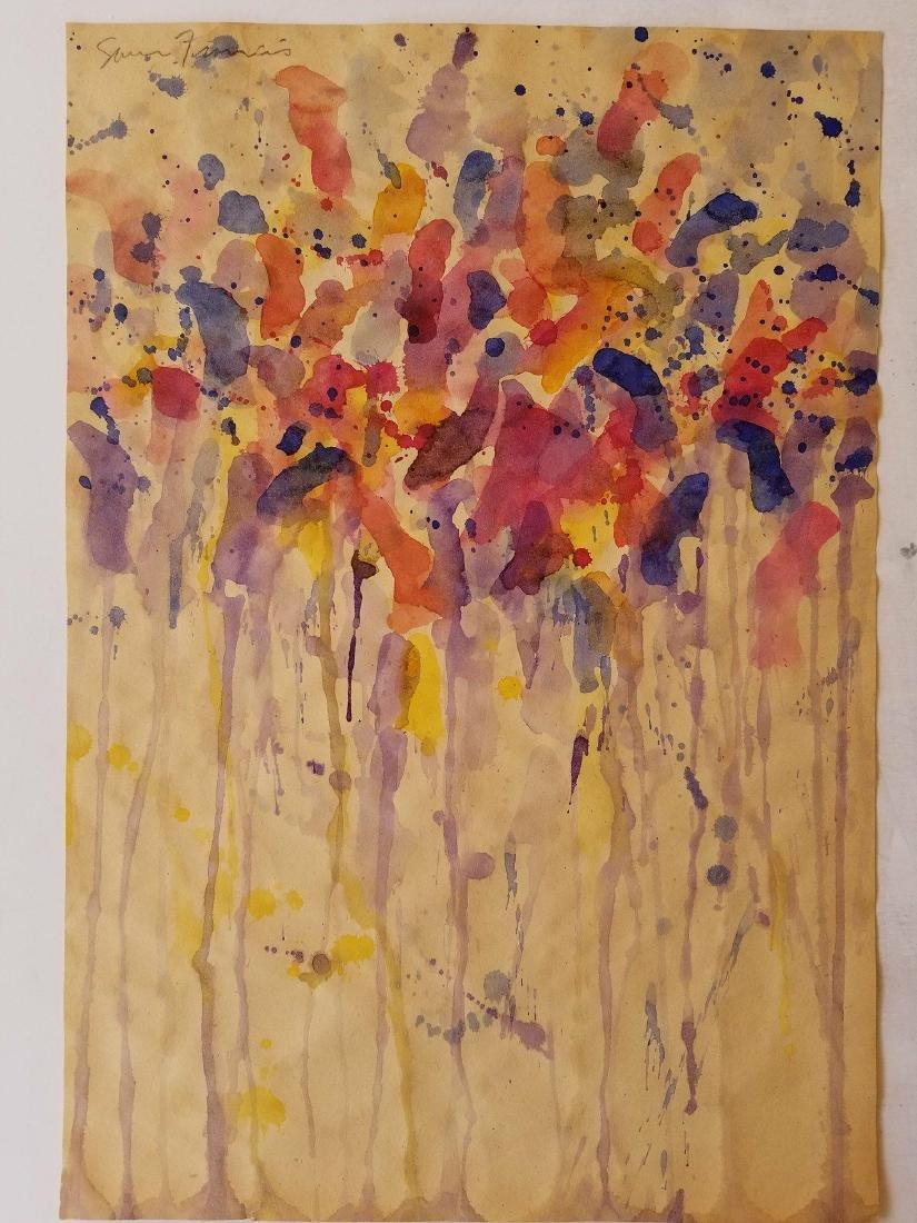 Sam Francis ( 1923- 1994) Watercolor on Paper- Samuel