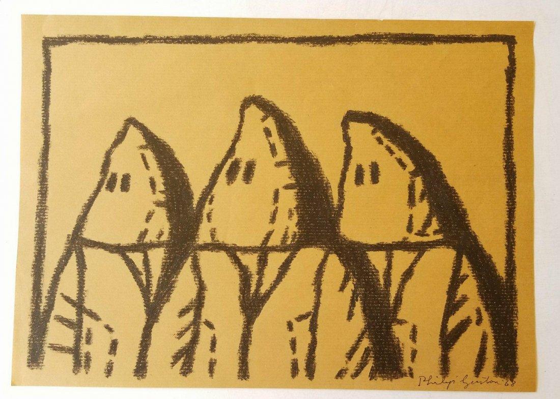 Philip Guston (1913-1980) crayon on Paper 1968- Born