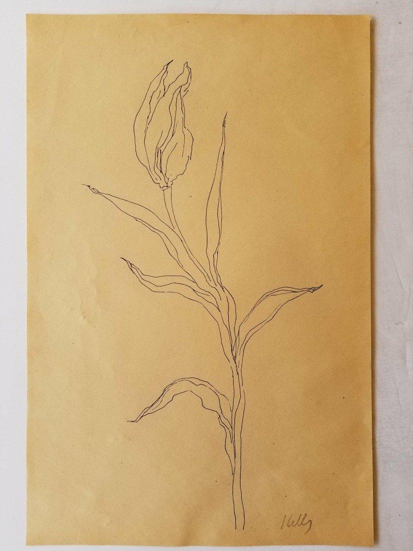 Ellsworth Kelly (1923-2015) Ink on Paper- was American