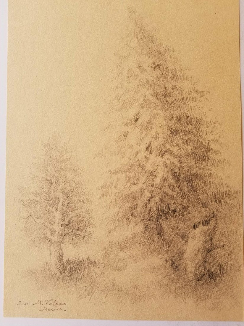 Jose Maria Velasco (1840-1912) Pencil on Paper- JosŽ