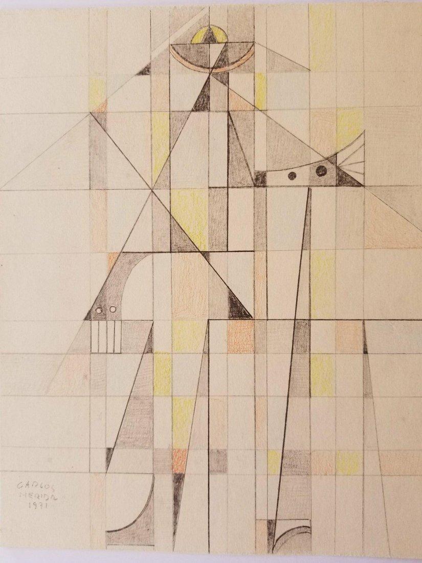 Carlos Merida (1891-1984) Pencil on Paper- Carlos