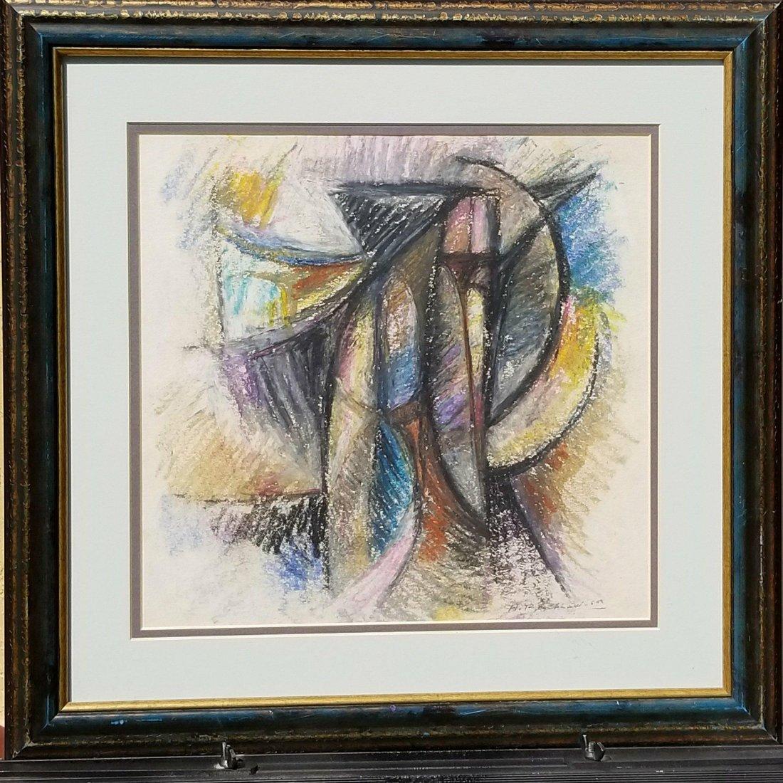 Hans Burkhardt (1904-1994) Pastel on Paper 1959- Hans