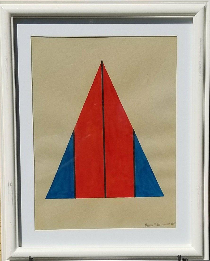 Barnett Newman (1905-1970) Gouache on Paper 1969-