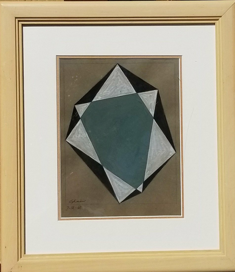 Charles Green Shan  1967. Pencil  and gouache on paper