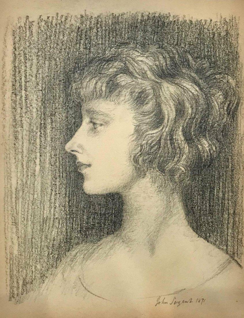 JohnSinger Sangent (1856-1925) Graphity on paper