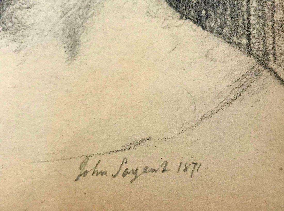 JohnSinger Sangent (1856-1925) Graphity on paper - 2