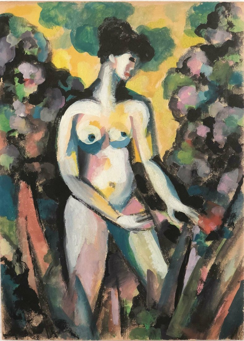 John Ducan Fergusson (1874-1961) water color on paper