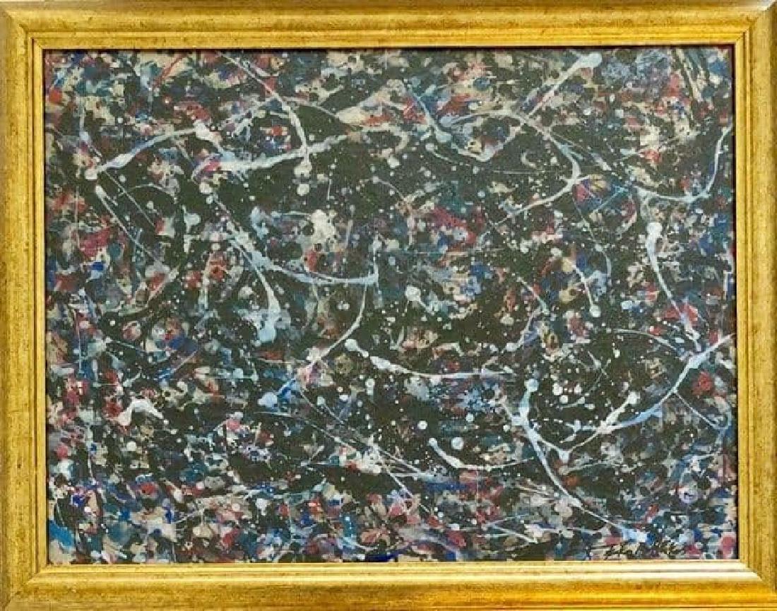 Jackson Pollock (1912-1956) House paint  on paper 1950