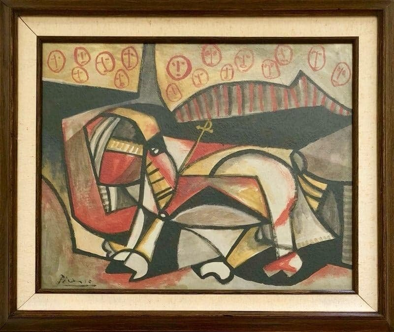 Pablo Picasso (1881-1973)-Ink and gouache on Paper-