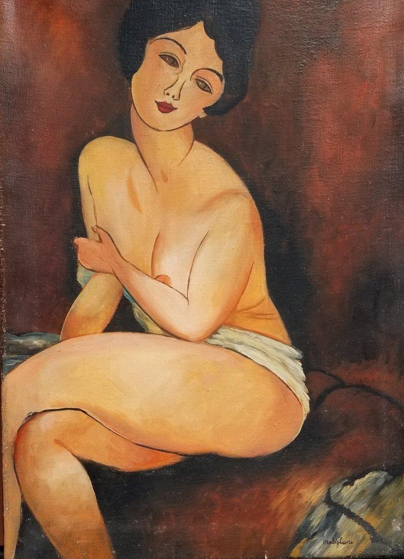Amadeo Modigliani (1884-1920)-Oil on Canvas-ATTRIB. COA