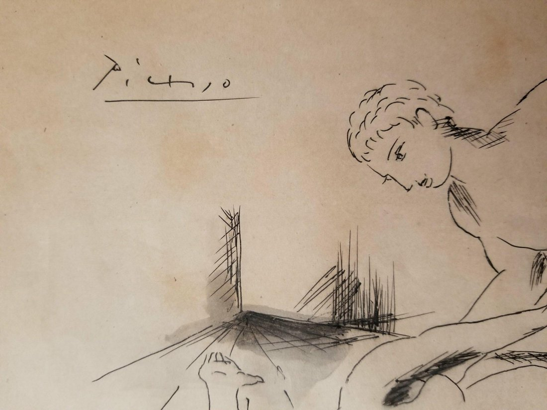 Pablo Picasso (1881-1973)-Ink -water color on paper - 2