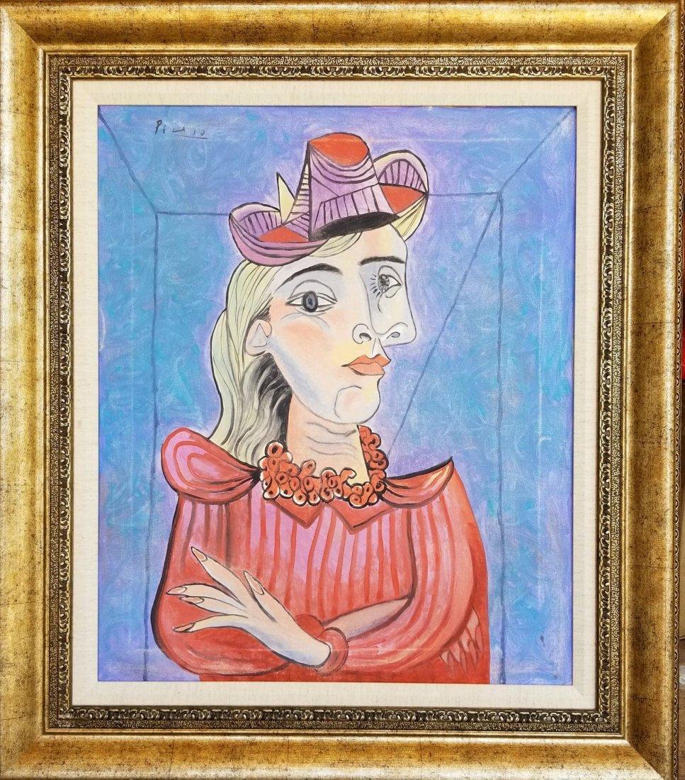 Pablo Picasso (1881-1973)-oil on canvas- ATTRIB.