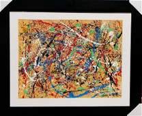 Jackson Pollock (1912-1956) House paint  on paper.