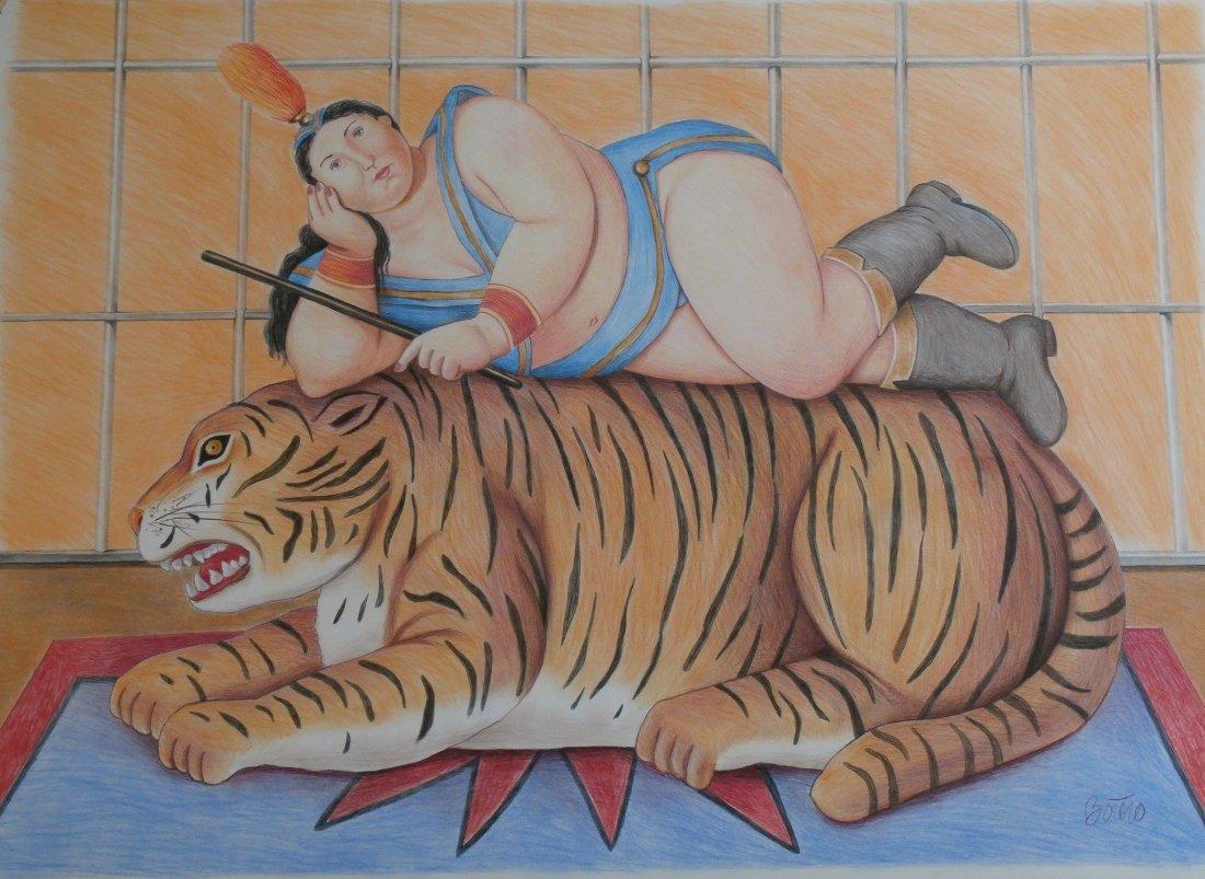Fernando Botero Contemporary artist from Colombia  (att