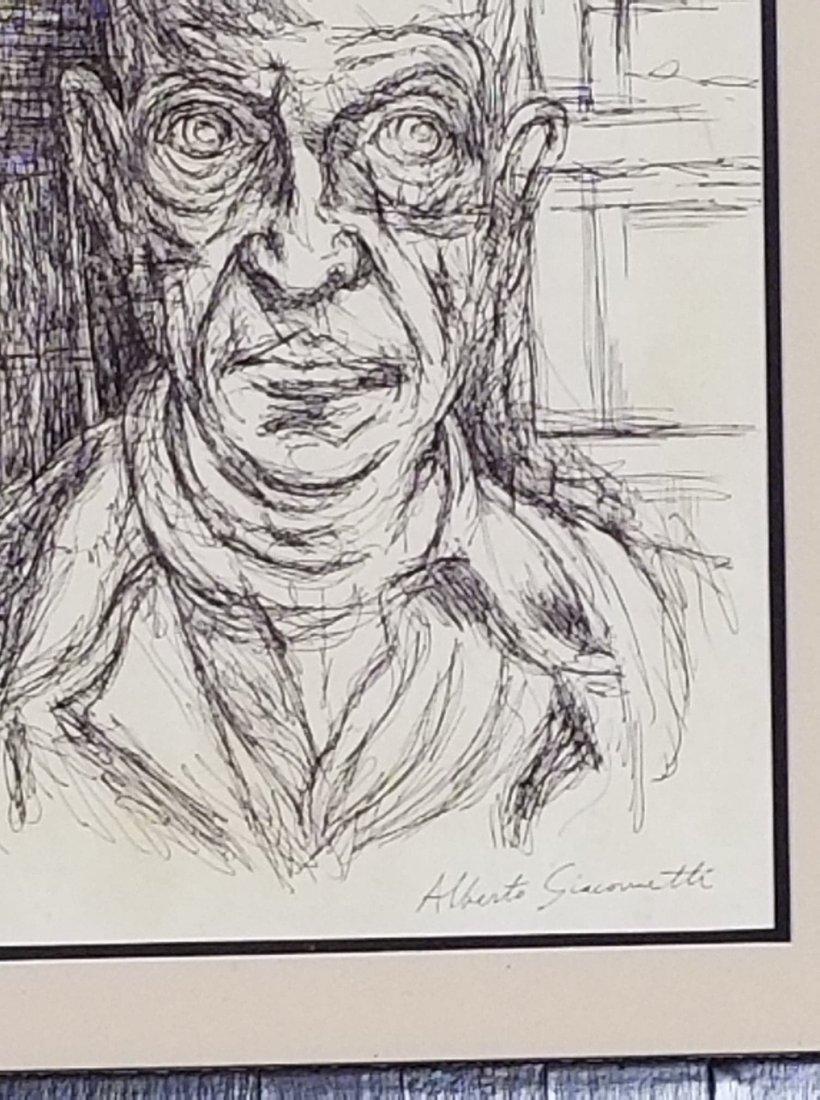 Alberto Giacometti (1901-1966) Ink on Paper- COA - 3