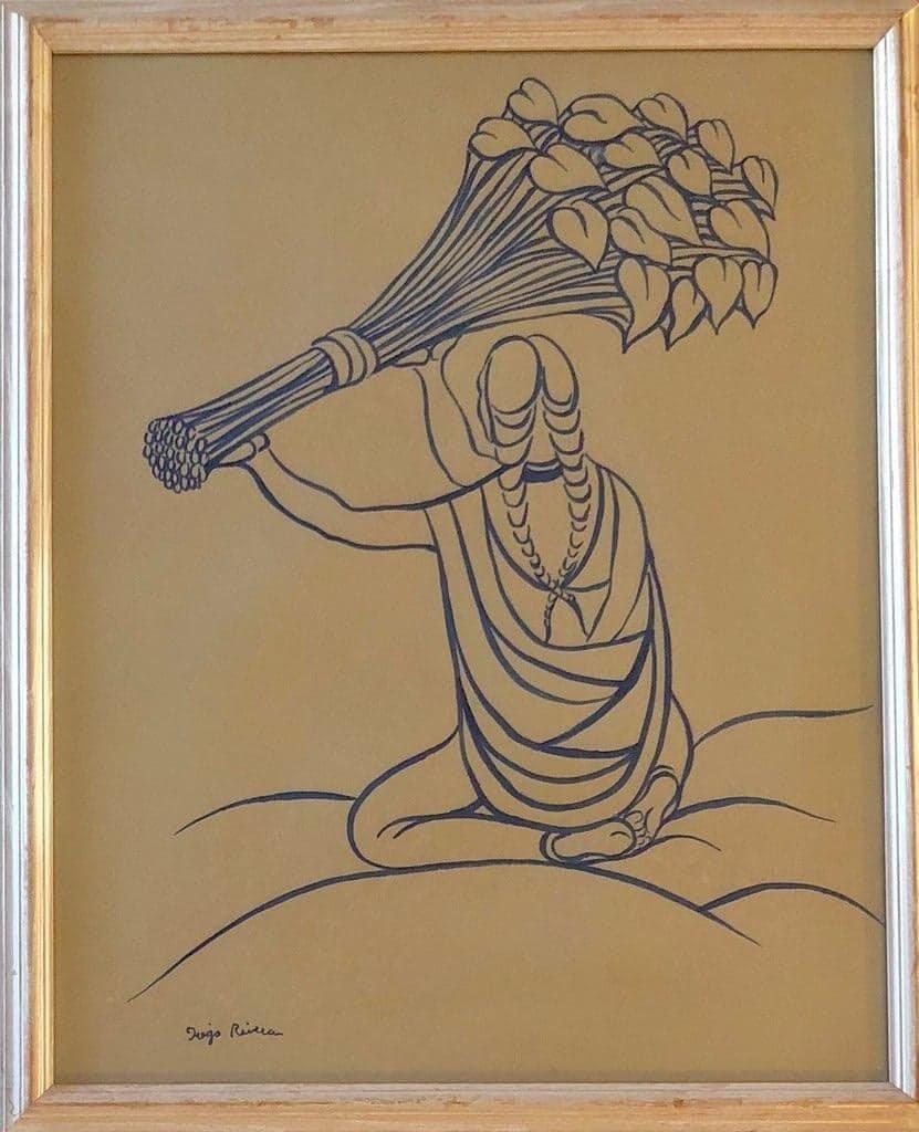 Diego Rivera(1886-1957) - Blue ink on paper  ATTRIB.-