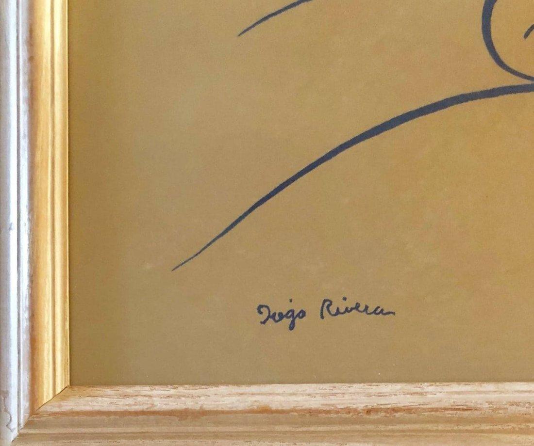 Diego Rivera(1886-1957) - Blue ink on paper  ATTRIB.- - 2