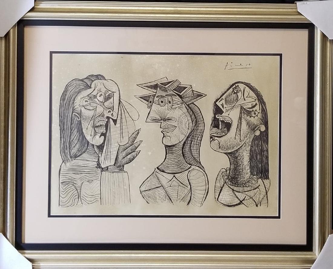 Pablo Picasso (1881-1973)Attributed-Ink on Paper-