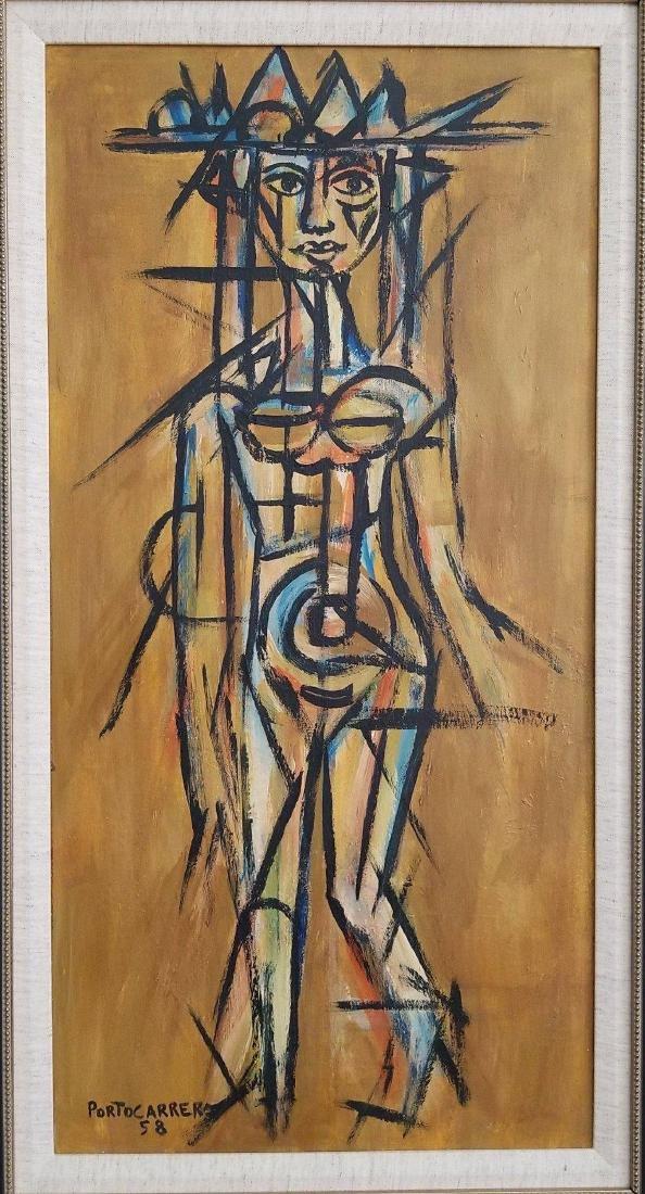 Rene Portocarrero (cuban)(1912-1986) -(attrib) (coa)