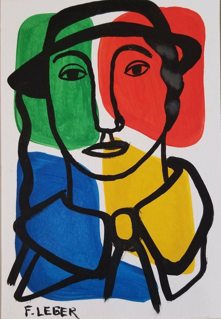 Fernand Leger (1881-1955)- water color on paper/