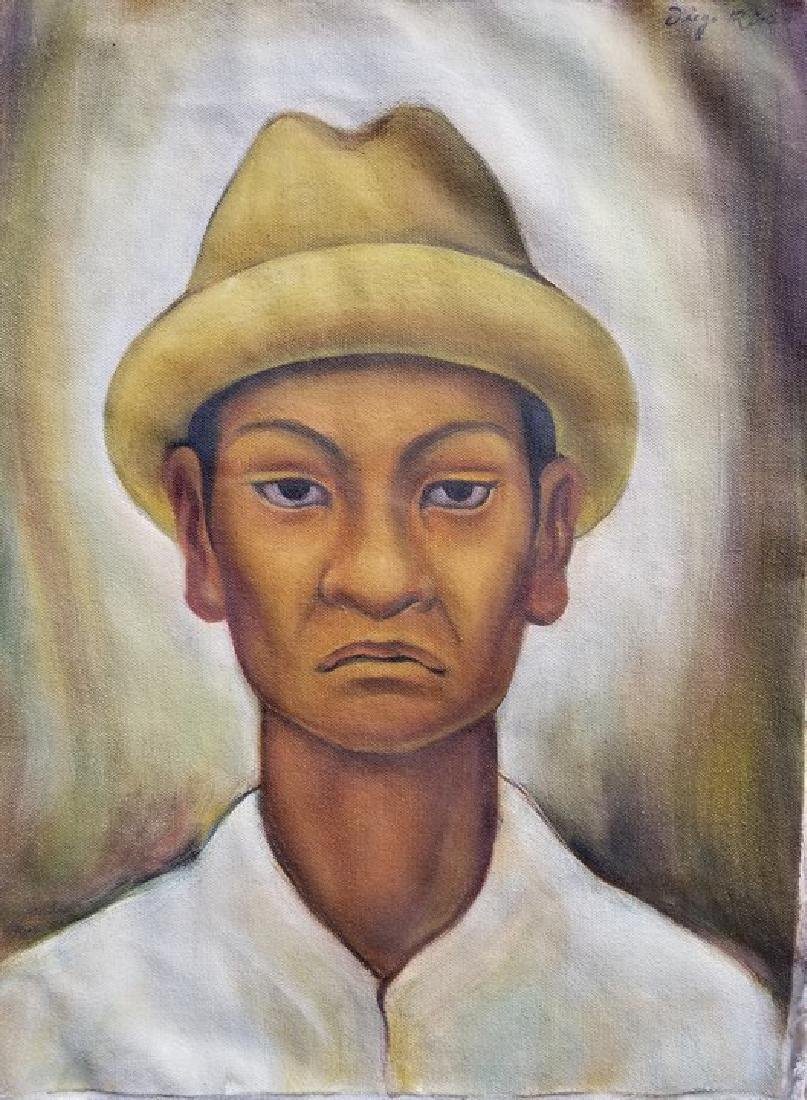 Diego Rivera(1886-1957) - oil on canvas- ATTRIB. COA-