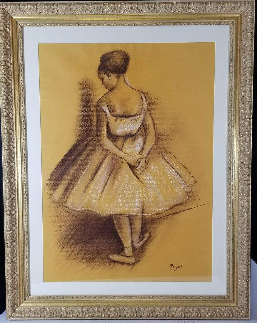 Edgar Degas-Girl dancer-Colored pastel on paper(Attrib-