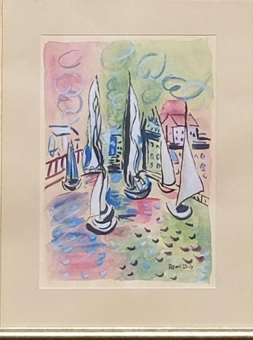 Raoul Dufy-Water color on paper- Attrib.
