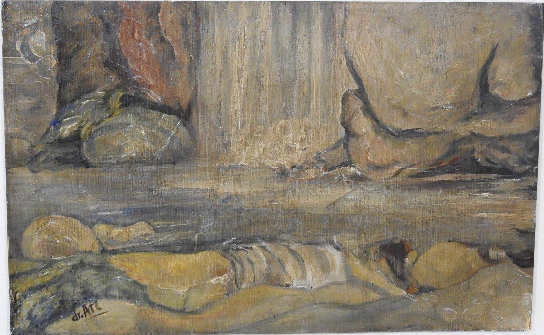 Gerardio Murillo Cornado Acryllic/wood, measures 15 x 2