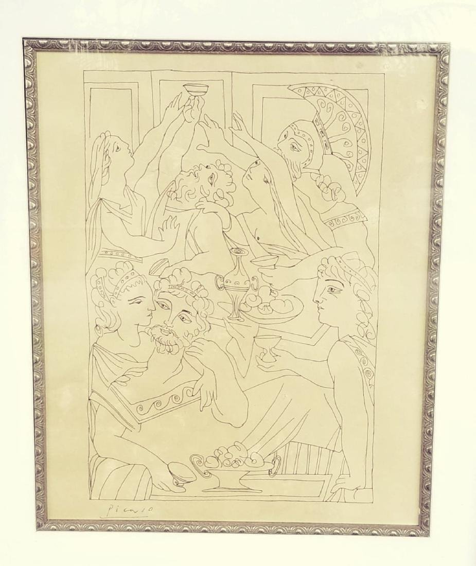 Pablo Picasso (1881-1973)-Ink  on paper-  ATTRIB. COA-
