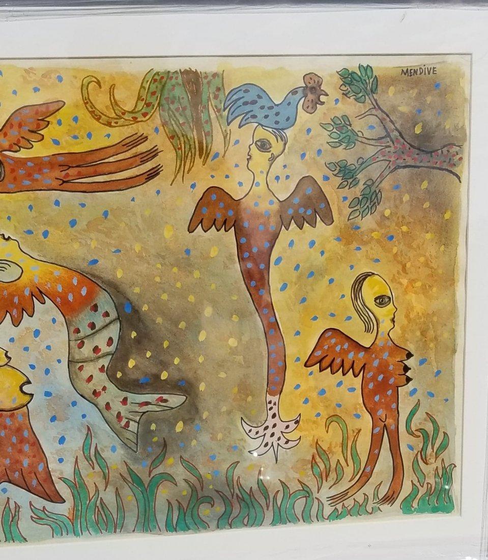 Manuel Mendive-Contemporary Cuban Artist- Water color - 2