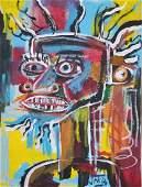 In the manner of Jean Michel Basquiat 19601988