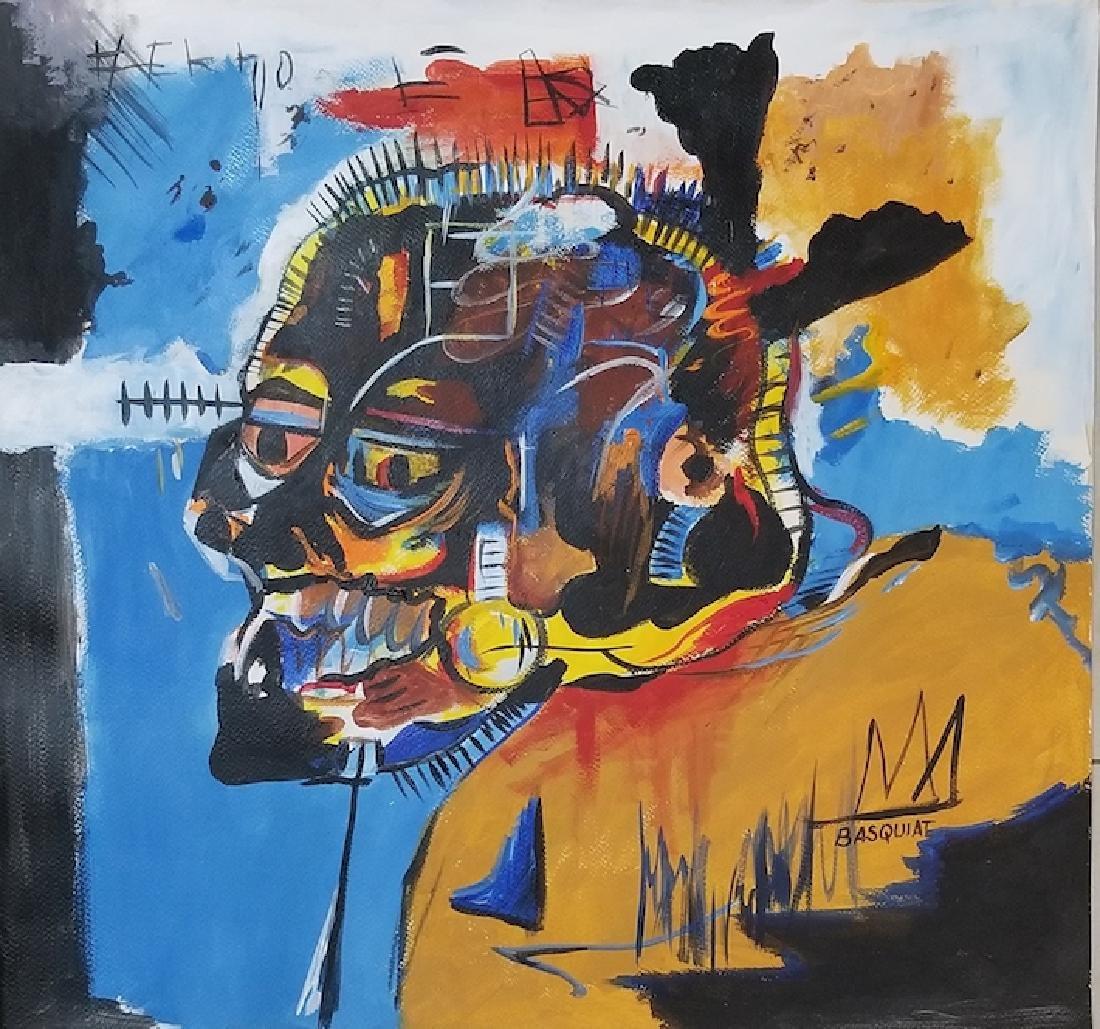 In the manner of: Jean Michel Basquiat -Original Street