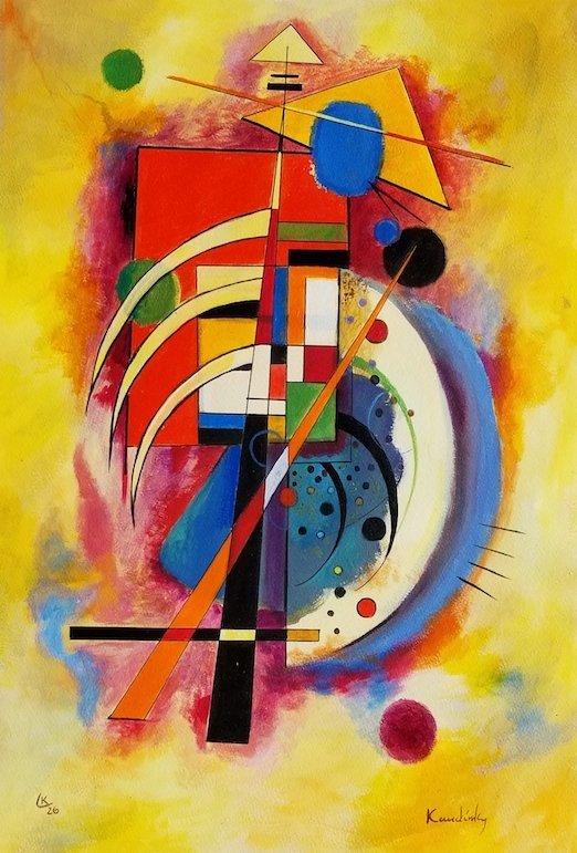 Wassily Wassilyevich Kandinsky was a Russian painter