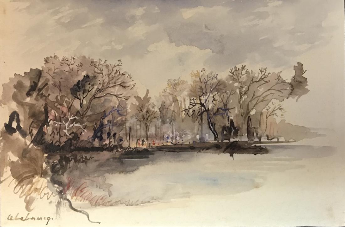 Albert Marie Lebourg  (1849 - 1928)Watercolor / Paper,